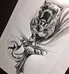 ✖️SANDMAN✖️ #Davidreveles #tattoospooky #sandman #razorsedge #pitbull #pocketpit #brindle #gargoyle #pencil #graphite #mechanicalpencil #worldofpencils