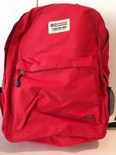 13c1494de8 Emergency Essentials Red Backpack 2 Compartments Emergency Survival School  Survival Equipment