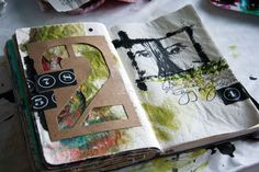 """I usually find inspiration in Donna Downey's collage Monday, but I liked where she said, here, that she has a """"collage possibilities"""". Fun idea-for our girls, and their artistic expression, too"""
