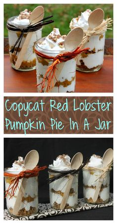If you are looking for a last minute dessert for your holiday meal, this amazing Copycat Red Lobster Pumpkin Pie In A Jar is a real crowd pleaser!