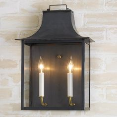 Georgian Outdoor Wall Light - 2 Light