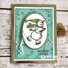 VIDEO: 2018 Holiday Catalog Launch Party with over 80 Ideas & Prize Patrol Stampin Up Christmas 2018, Christmas Cards 2018, Homemade Christmas Cards, Homemade Cards, Christmas 2019, Stampin Up Weihnachten, Winter Karten, Snowman Cards, Stamping Up Cards