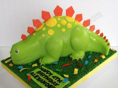Celebrate with Cake!: Cute Stegosaurus Cake