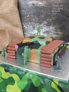 Chocolate army tank cake Army Tank Cake, Cakes For Boys, Themed Cakes, Chocolate, Birthday Ideas, Desserts, Food, Kids, Theme Cakes