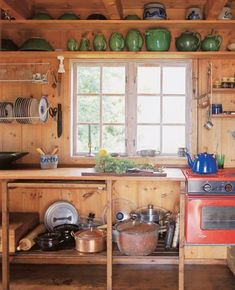 Norwegian Wood: The Thoughtful Architecture of Wenche Selmer Beautiful Kitchen Designs, Beautiful Kitchens, Freestanding Kitchen, Norwegian Wood, Cabins And Cottages, New Kitchen, Kitchen Decor, Cheap Home Decor, Home Remodeling