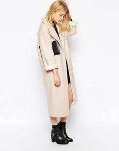 Image 4 ofASOS Duster Coat In Textured Wool