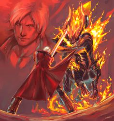Fan Art of Dante vs. Berial for fans of Devil May Cry 4 13139471 Devil May Cry 4, Dont Cry, Street Fighter, Game Art, Crying, Film, Video Games, Bayonetta, Resident Evil