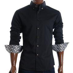FLATSEVEN Mens Slim Fit Square Buttoned Dress Shirts (SH422)