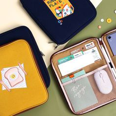 Tailorbird fabric 11 inches tablet PC iPad zip sleeve pouch by Wanna This. Now you can protect your iPad(tablet PC) with our stylish new laptop sleeves. Laptop Pouch, Camera Pouch, Macbook Bag, Cute Ipad Cases, Ipad Bag, Korean Products, Small Tote Bags, Ipad Sleeve, New Laptops