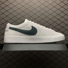 the latest dff33 673bc Nike SB Blazer Zoom Low Leather Summit White Deep Jungle 864347-101-3 Nike