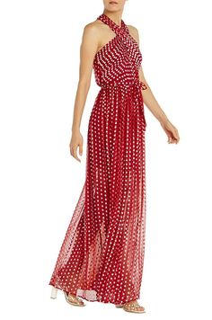 76b0d947e7cc ML Monique Lhuillier Polka Dot Halter Gown