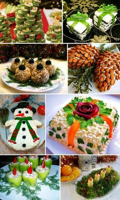 Best Christmas Recipes, Christmas Party Food, Xmas Food, Christmas Appetizers, Christmas Baking, Appetizers For Party, Christmas Side Dishes, Food Garnishes, Food Decoration