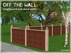 A NH deco fence/wall to go with this converted sign NH deco from TS3!