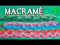 Pulsera macrame roja fucsia | DIY | paso a paso - YouTube