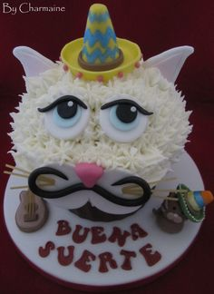 Mexican Cat Giant Cupcake