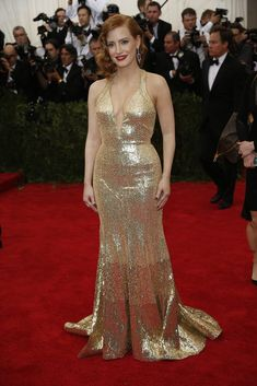 Met Gala 2015: Jessica Chastain in Givenchy - NYTimes.com