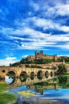 Beziers, France - quaint town in southern France where I had the ridiculously tasty cassoulet and probably the best wine I've ever tasted!
