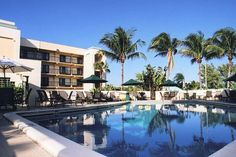 Enjoy a relaxing swim surrounded by palm trees during your next stay at Boca Raton Plaza Hotel & Suites in #Florida.