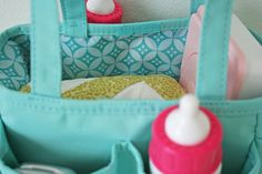 V and Co: how to: easy doll diaper bag
