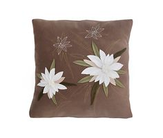 Mink Pillow  and White Felt Handmade Edelweiss by GIASTUDIOTR, $55.00