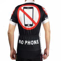 No Phone Cycling Jersey Back