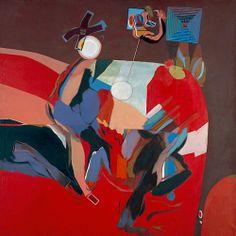 "transistoradio: ""Allen Jones Thinking about Women oil on canvas, x 152 cm. Collection of Norfolk Museums & Archaeology Service, Norwich, UK. Via BBC. Allen Jones, Art Uk, Geometric Art, Archaeology, Insta Art, Female Art, Oil On Canvas, Pop Art, Art Photography"