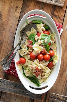 BLT Pasta Salad with White Beans Recipe