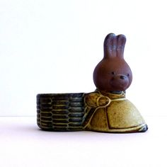 Vintage Bunny Egg Cup Made By UCTCI in Japan for Gempo Giftware