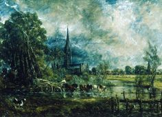 John Constable - Salisbury Cathedral, Wiltshire, from the Meadows (1829-31)