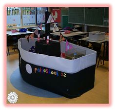 Stoomboot van Sinterklaas in de klas
