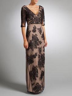Buy Somerset by Alice Temperley Lace Long Dress, Black online at JohnLewis.com - John Lewis