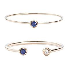 19Fifth Sapphire/Diamond Double Ring Set (€180) ❤ liked on Polyvore featuring jewelry, rings, gold, diamond rings, band rings, stackable band rings, stackable diamond rings and diamond jewellery