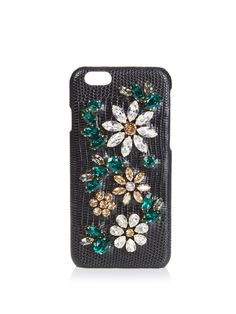 Crystal-embellished leather iPhone® 6 case by Dolce & Gabbana | Shop now at #MATCHESFASHION.COM