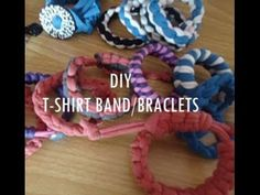 Easy Bracelets/Bands from old t-shirt(4 types) - YouTube