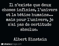 Univers - Albert Einstein