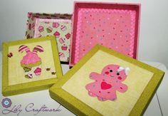 Caixa em MDF (madeira) trabalhada com tecido e patchwork embutido!