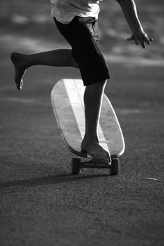 Skateboards became popular in the mid'60's. Girls and guys loved them.