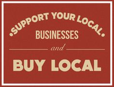 our retro sign for supporting local businesses
