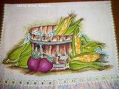 Catia Artes Manuais: LEGUMES PINTADOS COM AS CORES