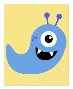 adorable monster print plumper for your own little monsters - Monster Pictures For Kids To Print