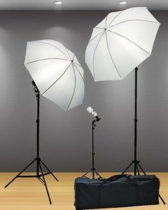 Studio Photography Lighting Kit Umbrellas Set Lights Camera Photo Video Shoot