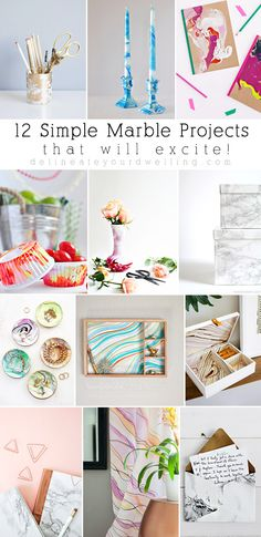 DIY 12 Simple Marble Projects that will excite you! Delineateyourdwelling.com