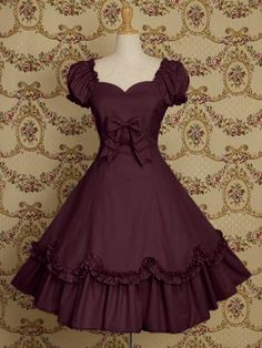 Short Sleeve Vermeil Cotton Classic Lolita Dress | Cheap classic lolita dresses Sale