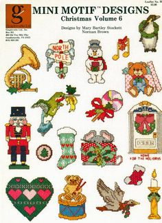 Stone Hill Collectibles - Mini Christmas Cross Stitch Patterns Nutcracker French Horn