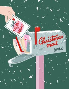 Christmas Mail, Christmas Time Is Here, Little Christmas, Christmas Cards, Christmas Decorations, Christmas Phone Wallpaper, Frederique, Christmas Drawing, Christmas Aesthetic
