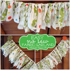 {create this} pretty fabric garland - an easy no-sew project!!   |   Shaken Together Life