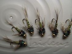 Irideus blue wing olive fly BWO Mutant caddis trout flies nymph fly fishing bead