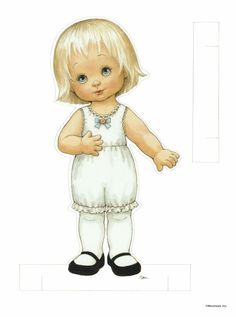 """""""friends around the world"""" blonde paper doll ~ by ruth moorehead"""