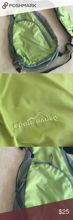 Eddie Bauer Mini Backpack Green Eddie Bauer Mini crossbody mini backpack. Great condition! Eddie Bauer Bags Backpacks