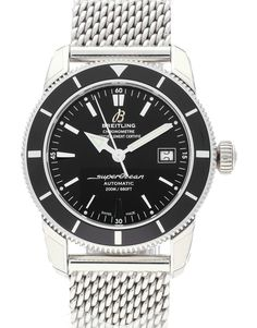 Pre-owned Breitling SuperOcean Heritage Gents Automatic watch. 42 mm Steel case, with Black Baton dial. In stock now, on your wrist tomorrow! Breitling Superocean Heritage, Breitling Navitimer, Breitling Watches, Cool Watches, Watches For Men, Unique Watches, Men's Watches, Watch 2, Automatic Watch